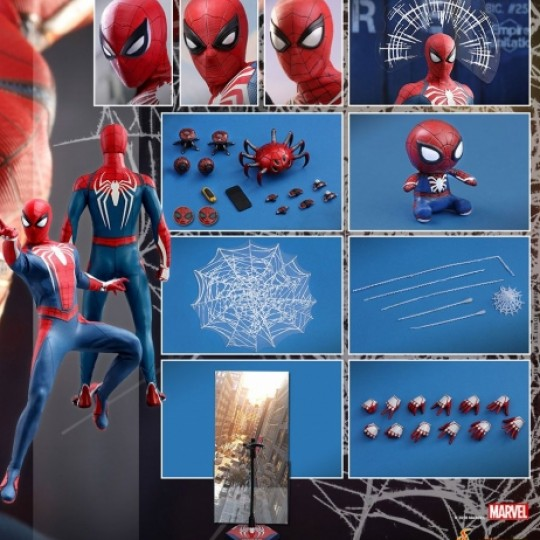 Hot Toys Marvel's Spider-Man Videogame Masterpiece Action Figure 1/6 Spider-Man Advanced Suit 30 cm