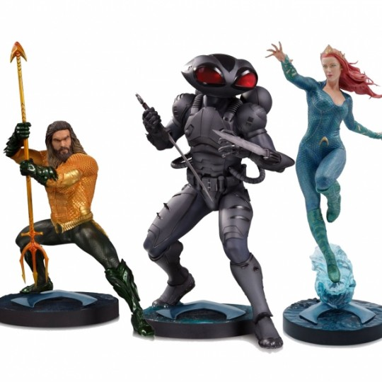 Aquaman Movie Statue Aquaman / Black Manta / Mera 30 cm