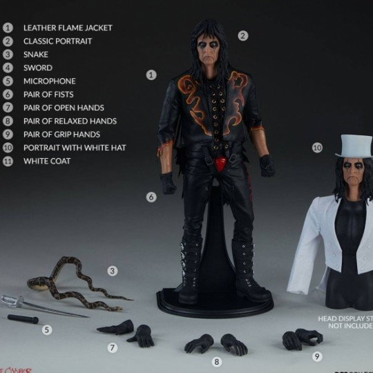 Alice Cooper 1/6 Action Figure 30 cm