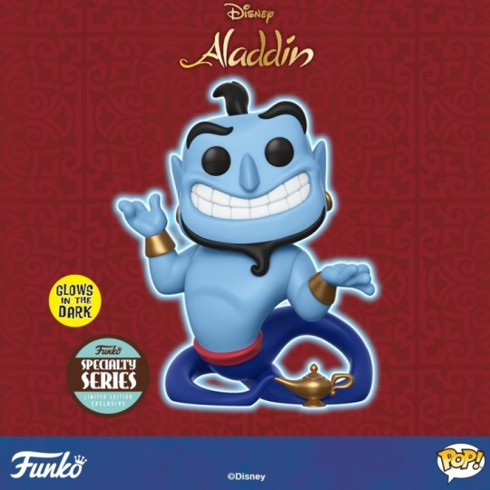 Aladdin POP! Disney Vinyl Figure Speciality Series Genie with Lamp GITD 9 cm