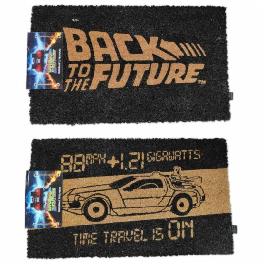 Back to the Future Doormat Logo / Time Machine 43 x 72 cm