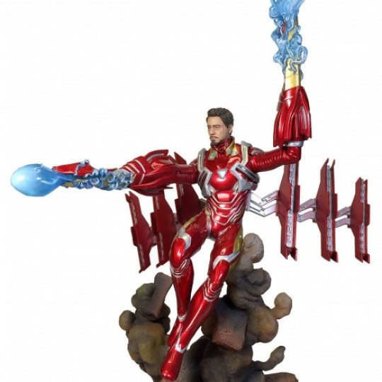 Avengers Infinity War Marvel Movie Gallery PVC Statue Iron Man MK50 Unmasked 23 cm