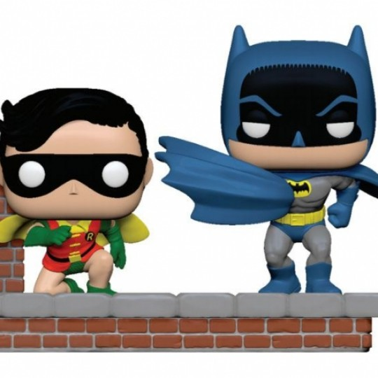 Batman 80th POP Moment! Vinyl Figures 2-Pack Look Batman & Robin (1964) 9 cm