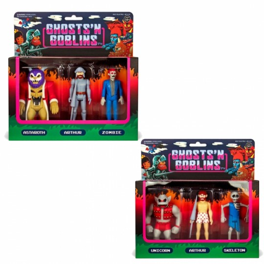 Ghosts 'n Goblins ReAction Action Figure 3-Pack A / B 10 cm