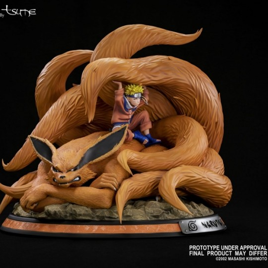 Naruto HQS Naruto & Kyubi Linked by the seal by Tsume 1/8 41 cm