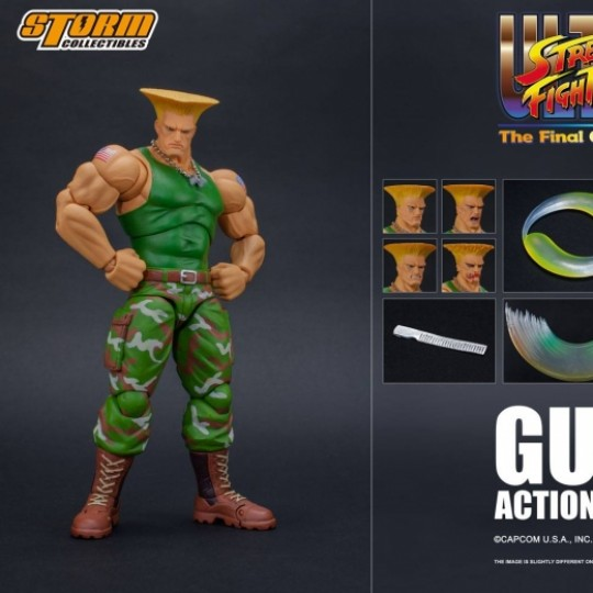 Ultra Street Fighter II: The Final Challengers Action Figure 1/12 Guile 16 cm