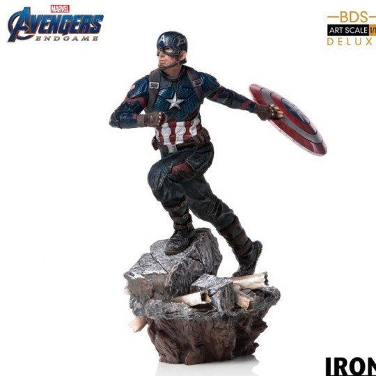 Avengers: Endgame Deluxe Battle Diorama Series Art Scale Statue 1/10 Captain America 21 cm