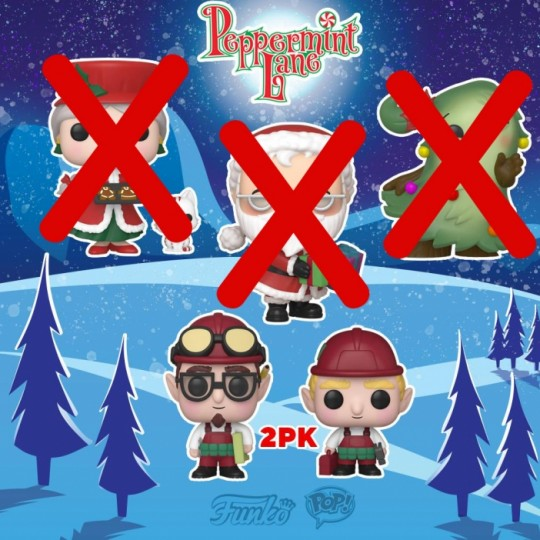 Funko Peppermint Lane Christmas Village POP! Holiday Vinyl Figures 2-Pack Randy & Rob 9 cm
