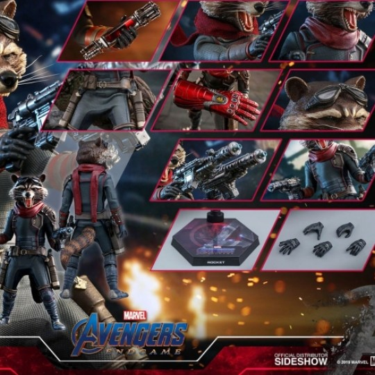 Hot Toys Avengers: Endgame Movie Masterpiece Action Figure 1/6 Rocket 16 cm