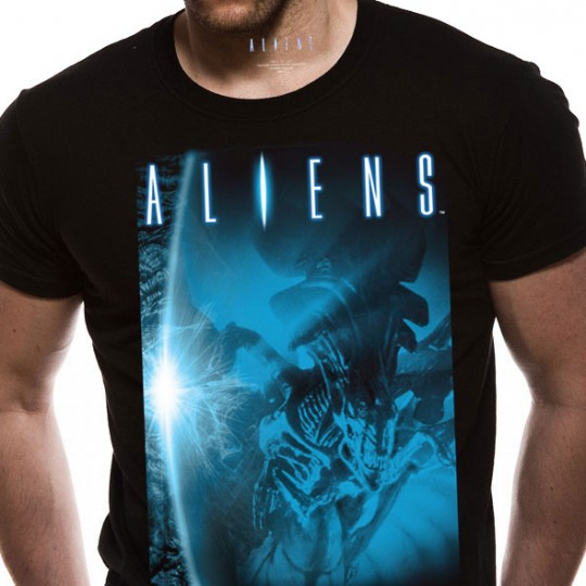 Aliens T-Shirt Alien Blue