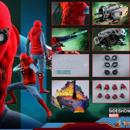 Hot Toys Spider-Man: Far From Home Movie Masterpiece 1/6 Spider-Man (Homemade Suit) 29 cm