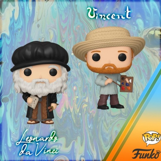 Artists POP!  Vinyl Figure Leonardo da Vinci  / Vincent van Gogh 9 cm