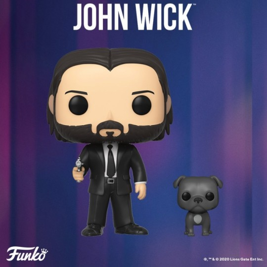 John Wick POP! Movies Vinyl Figure John Wick in Black Suit with Dog 9 cm