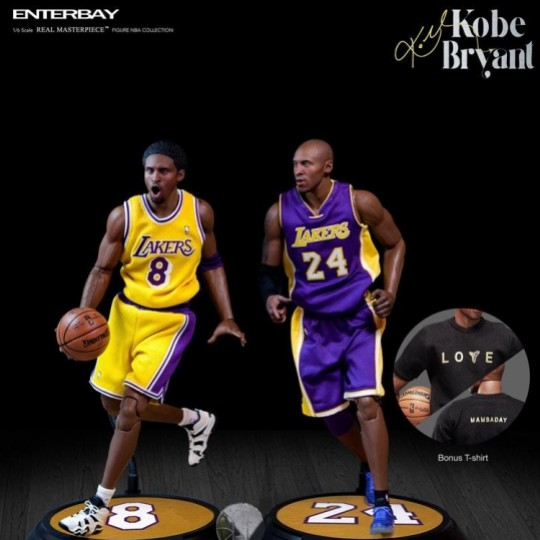 NBA Collection Real Masterpiece Action Figure 1/6 Kobe Bryant Upgraded Re-Edition 30 cm