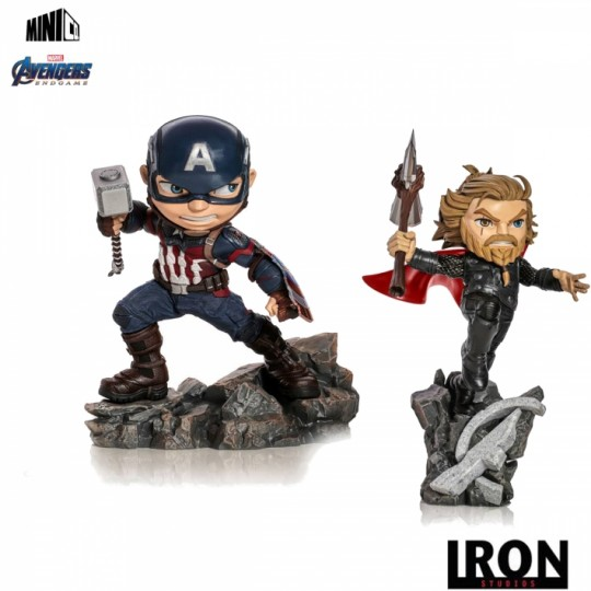 Avengers Endgame Mini Co. PVC Figure Captain America / Thor 15-21 cm