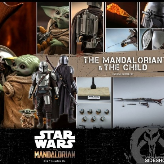 Hot Toys Star Wars The Mandalorian Action Figure 2-Pack 1/6 The Mandalorian & The Child 30 cm
