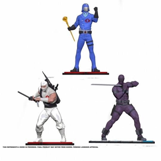 G.I. Joe PVC Statue 1/8 Snake Eyes / Storm Shadows / Cobra Commander 21 cm