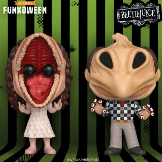 Beetlejuice POP! Movies Vinyl Figure Adam / Barbara Transformed 9 cm