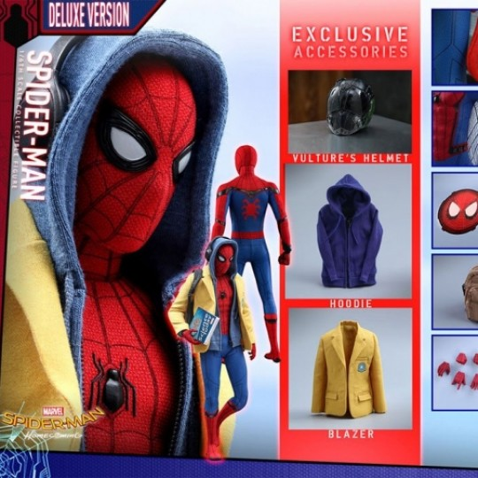 Hot Toys Spider-Man Homecoming Action Figure 1/6 Spider-Man Deluxe Ver. 28 cm
