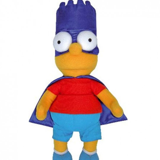 SIMPSONS Peluche Bart Superhero 37 cm