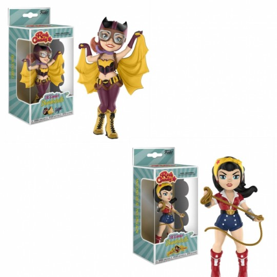 DC Comics Bombshells Rock Candy Vinyl Figure 13 cm Batgirl / Wonder Woman