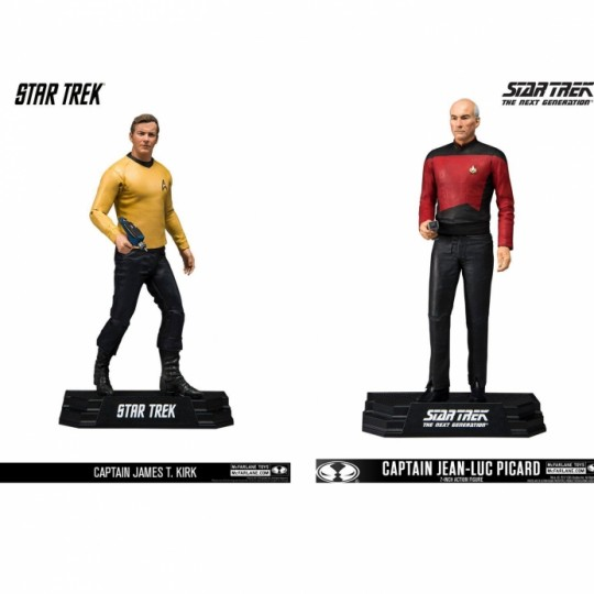 Star Trek Action Figure Captain James T.Kirk / Jean-Luc Picard 18 cm