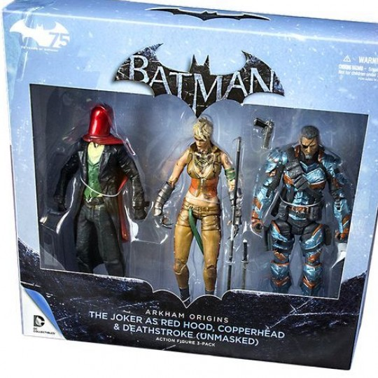 Arkham Origins 3Pack Deathstroke/Red Hood/Copperhead Action Figure