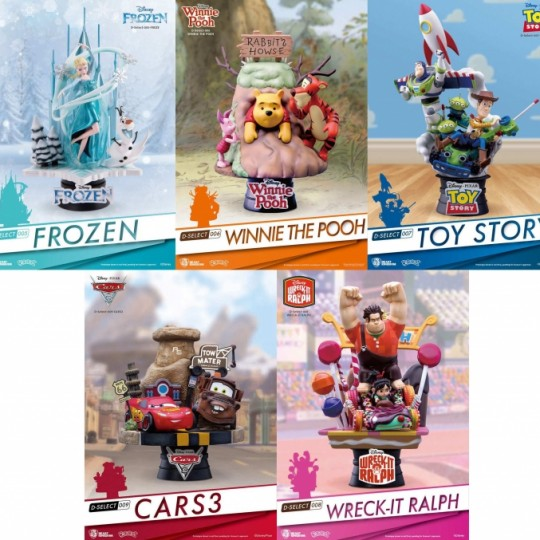 Disney D-Select PVC Diorama 14-18 cm Frozen / Cars 3 / Wreck-It Ralph / Toy Story / Winnie the Pooh