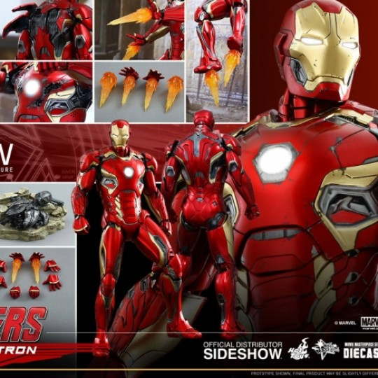 Avengers Age of Ultron Diecast Action Figure 1/6 Iron Man Mark XLV 30 cm