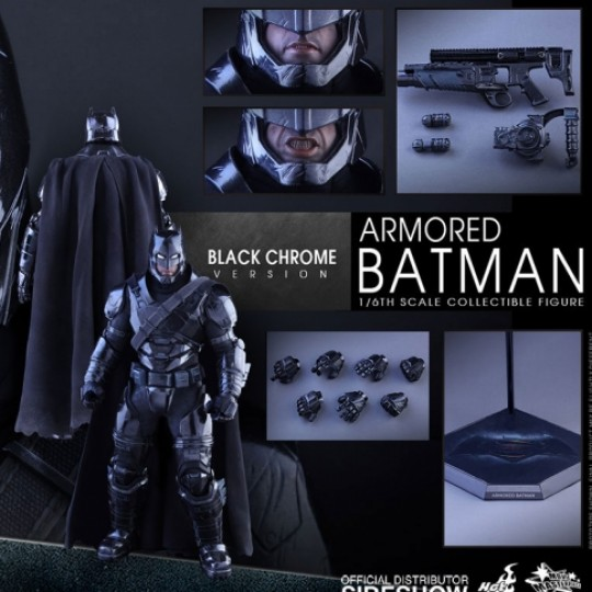 Batman v Superman Dawn of Justice MMS 1/6 Armored Batman Black Chrome Ver. 33 cm