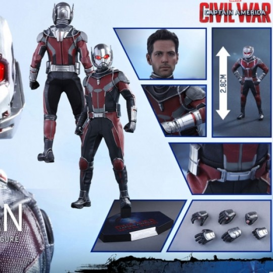 Captain America Civil War Movie Masterpiece Action Figure 1/6 Ant-Man 30 cm