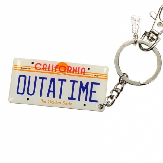Back to the Future Metal Keychain Car Plate