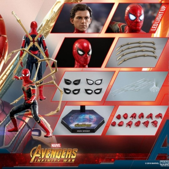 Hot Toys Avengers Infinity War Movie Masterpiece Action Figure 1/6 Iron Spider 28 cm