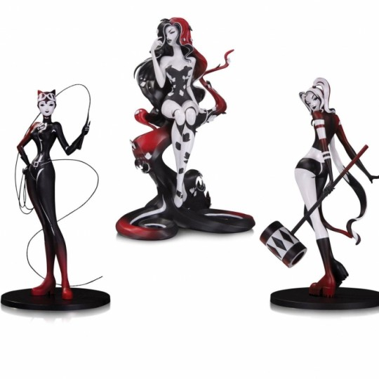 DC Comics DC Artists Alley Statue Poison Ivy / Harley Quinn / Catwoman by Sho Murase 17 cm