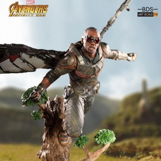 Avengers Infinity War Battle Diorama Series Art Scale Statue 1/10 Falcon 43 cm