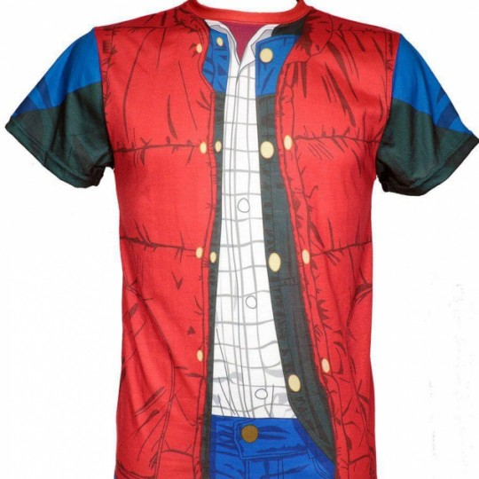 Back to the Future Sublimation T-Shirt Marty McFly Costume